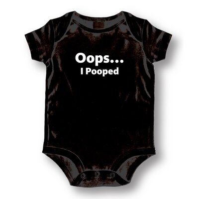 Attitude Aprons by L.A. Imprints Oops I Pooped Baby Romper
