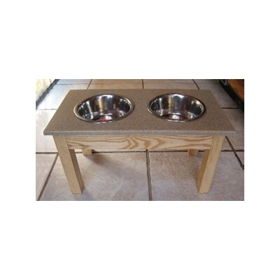 Classic Pet Beds Ash Wood Pet Diner with Solid Surface Top