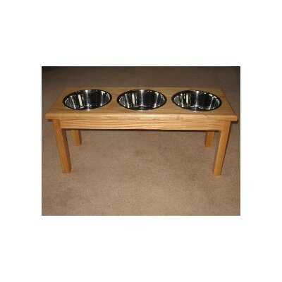 Classic Pet Beds 3 Bowl Traditional Style Pet Diner (2 qt Bowls)