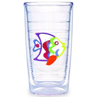 Multi Colored Fish 16 oz. Tumbler (Set of 4)