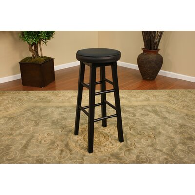 American Heritage Delta Stool in Black with Black Vinyl