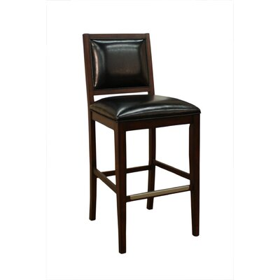 American Heritage Bryant Stool in Espresso with Toast Leather