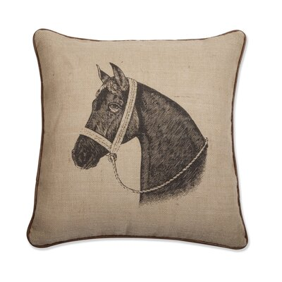 "Thomas Paul Horse 18"" x 18"" Pillow in Java"