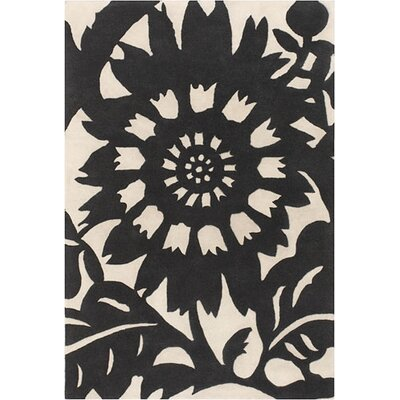 Thomas Paul Tufted Pile Ebony/Cream Zinnia Rug