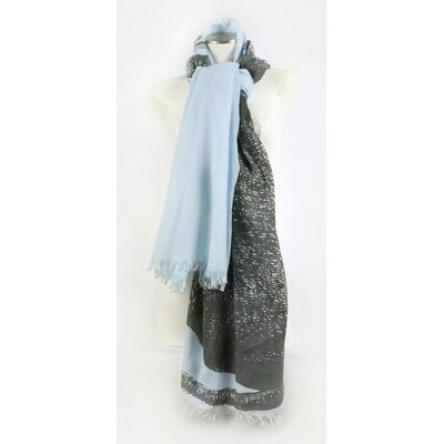 Thomas Paul Elephant Cotton Voile Scarf in Sky