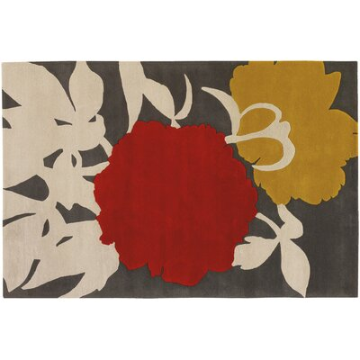 Thomas Paul Tufted Pile Red/Gris Peony Rug