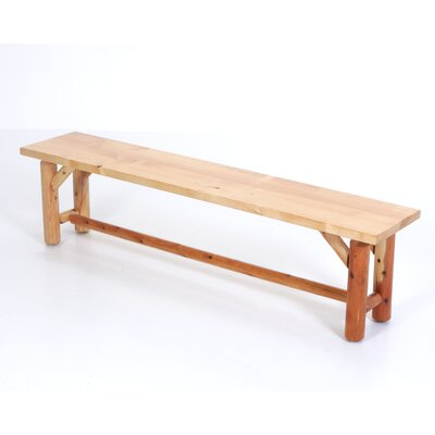 Moon valley rustic kitchen table bench reviews wayfair for Rustic benches for kitchen table