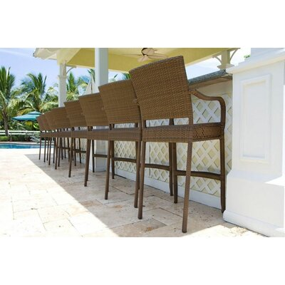 Hospitality Rattan Grenada Patio Barstool with Arms