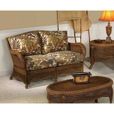 Turks Bay Rattan Loveseat with Cushions