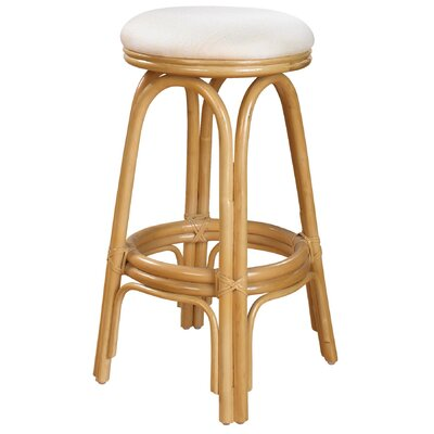 "Hospitality Rattan Carmen 30"" Bar Stool with Cushion"