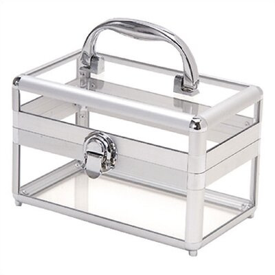 TZ Case Silver Framed Acrylic Beauty Case