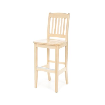 Bulldog Natural Bar Stool (24