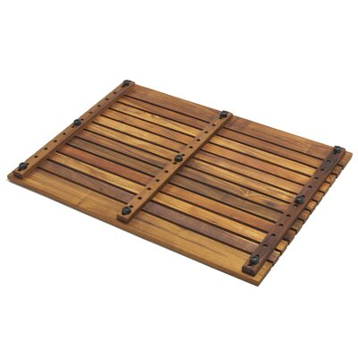 Infinita Corporation Le Spa Teak Floor and Shower Mat