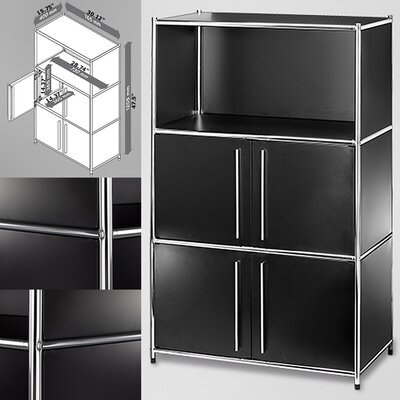 Infinita Corporation System4 Simpli 3 Compartment Bookcase