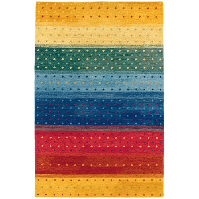 Couristan Oasis Rainbow Multi Color Striped Rug