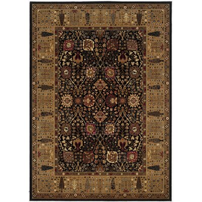 Couristan Royal Kashimar Cypress Garden Black Rug
