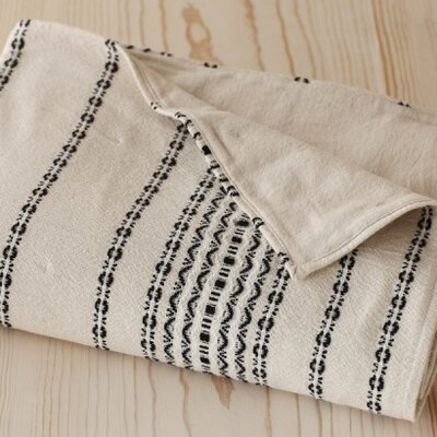Coyuchi Rippled Stripe Toddler Coverlet