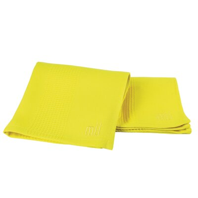 MU Kitchen MUbamboo Dish Cloth and Towel in Lemon (Set of 2)