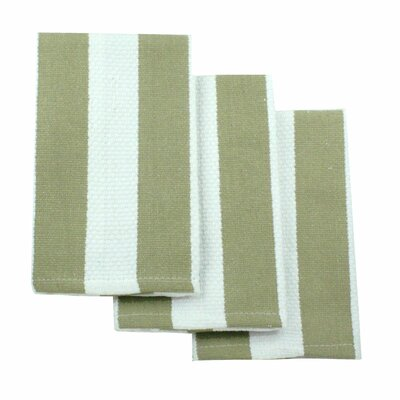 MU Kitchen MUincotton Dish Cloth in Sand Stripe (Set of 3)