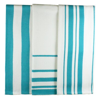 MU Kitchen MUincotton Dish Towel in Pacific Stripe (Set of 3)
