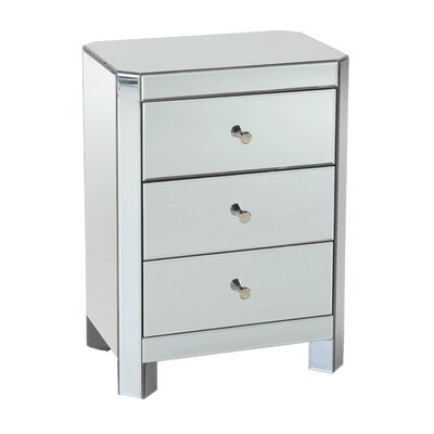 Parisian 3 Drawer Chairside Chest