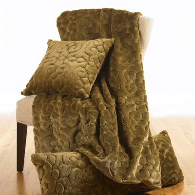 Wildcat Territory Arturo Sculpted Faux Fur Throw & Pillow