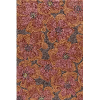 Momeni Summit Raspberry  Bold Floral Rug