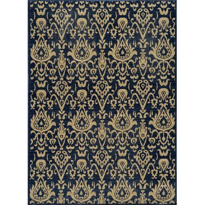 Momeni Vintage Indigo Damask Rug