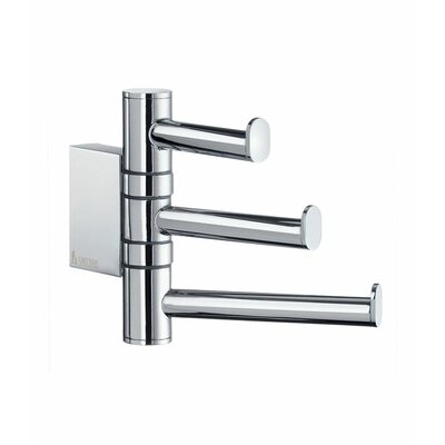 Smedbo Air Swing Arm Triple Hook in Polished Chrome