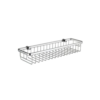 Sideline Rectangular Soap Basket in Polished Chrome