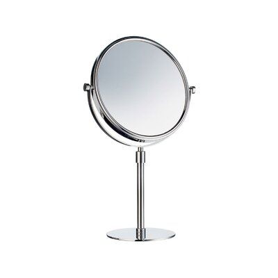 Outline Freestanding Shaving / Makeup Mirror in Polished Chrome