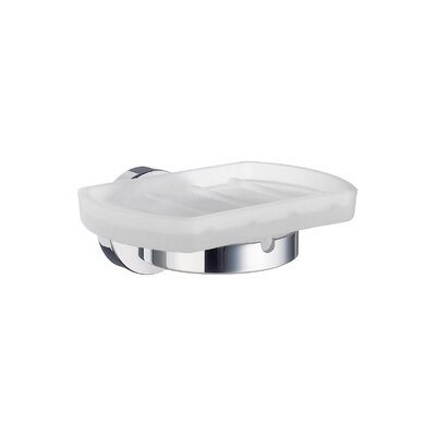 Smedbo Home Holder with Frosted Glass Soap Dish