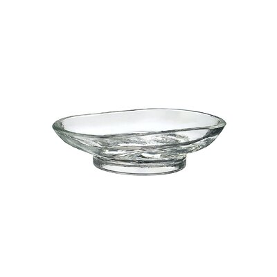 Smedbo Xtra Spare Clear Glass Freestanding Soap Dish