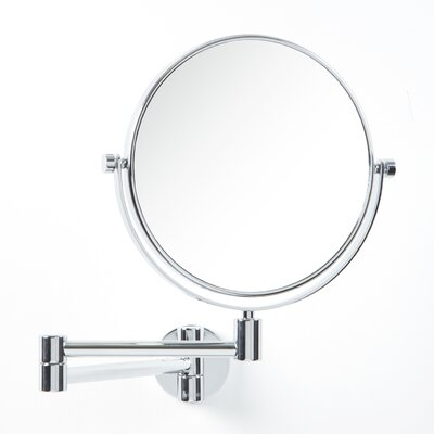 Outline Three-Time Magnifying Shaving / Makeup Mirror with Swivel Arm in Polished Chrome