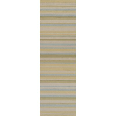 Surya Rug Rain Tan/White Sand Striped Rug