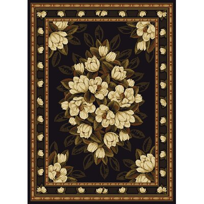 United Weavers of America China Garden Sugar Magnolia Black Rug