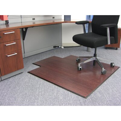 Anji Mountain Bamboo Plush Carpet and Hard Floor Beveled Edge Chair Mat