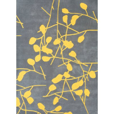 Foreign Accents Festival Grey/Canary Yellow Rug
