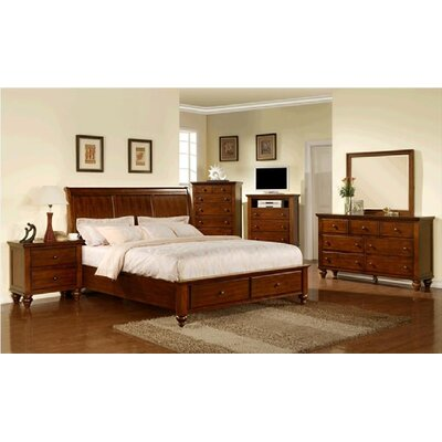 Sunset Trading Chatham Storage Sleigh Bed
