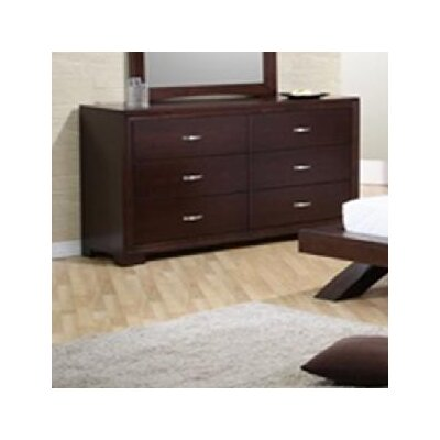 Sunset Trading Raven 6 Drawer Dresser