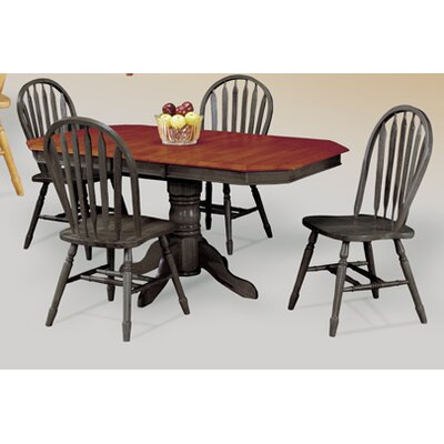 Sunset Selections Dining Table in Black & Cherry