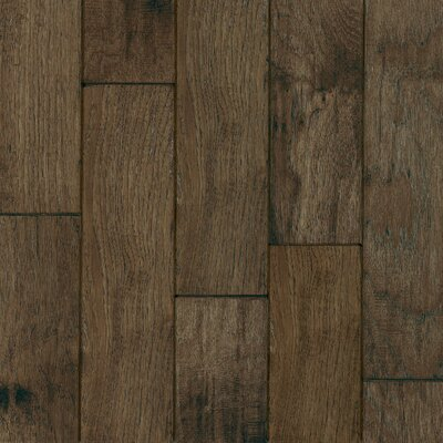 "Armstrong Century Farm 5"" Hand-Sculpted Engineered Hickory Flooring in Mountain Smoke"