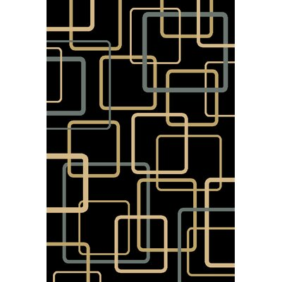 Central Oriental Interlude Circuitry Black Rug