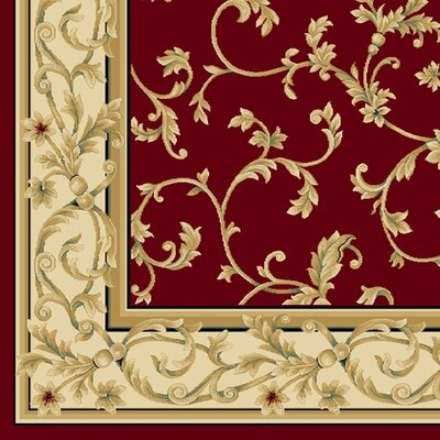 Central Oriental Radiance Felix Crimson/Wheat Rug