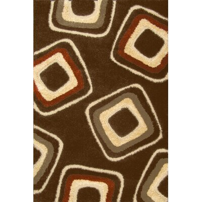 Central Oriental Miracle Brown and Terracotta Nucleus Rug