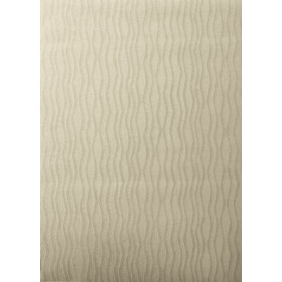 Central Oriental Tufted Scroll Beige Wave Rug