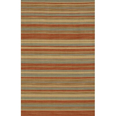 Pura Vida Tamarindo Sea Green/Rust Rug