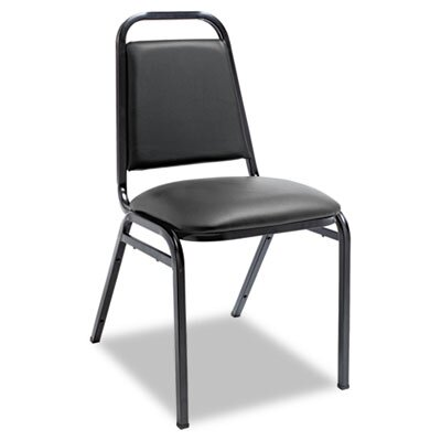 Alera® Upholstered Stacking Chairs with Square Back