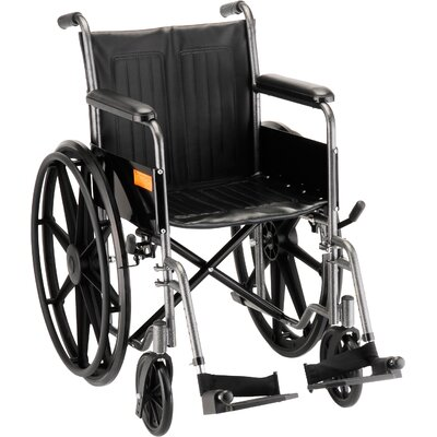 "Nova Ortho-Med, Inc. 18"" Steel Wheelchair"