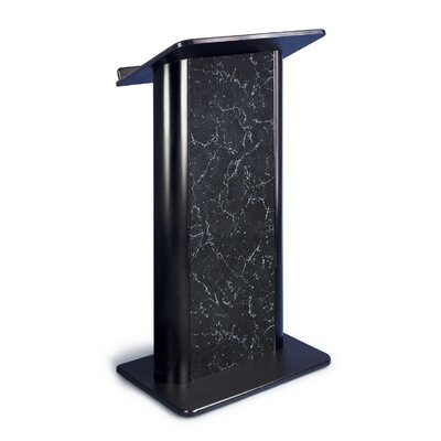 AmpliVox Sound Systems Pyrenees Marble Lectern with Black Anodized Aluminum